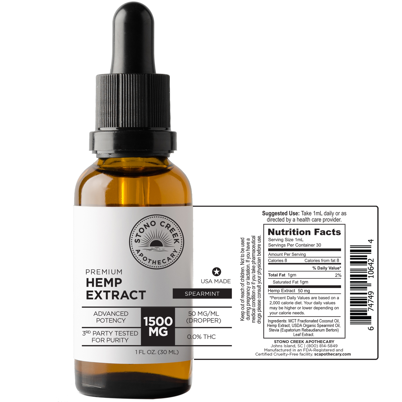 1500 MG Hemp Extract Oil - Advanced Potency